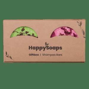HappySoaps - giftbox met 2 shampoo bars