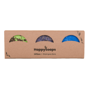 HappySoaps - giftbox met 3 shampoo bars